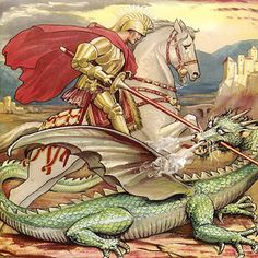 Crafty Moms Share: Michaelmas & Fighting Your Inner Dragon -- book titles, links to online stories, coloring pages, a few craft ideas