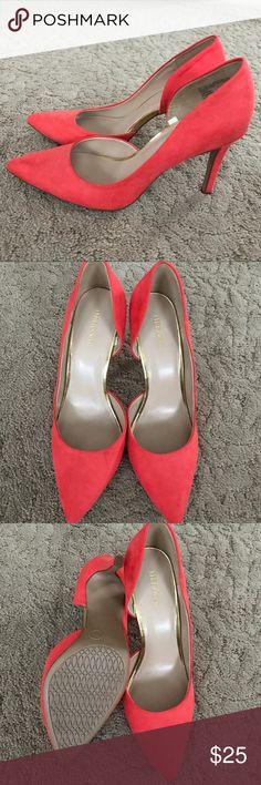 Merona Bright Orange Heels New without box! Merona Shoes Heels