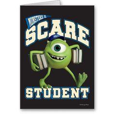 Disney/Pixar MONSTERS UNIVERSITY: Mike Wazowski scare student card  #MonstersUniversity