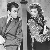 The Shop Around the Corner is a 1940 American romantic comedy film produced and directed by Ernst Lubitsch and starring James Stewart, Margaret Sullavan, and Frank Morgan. The screenplay was written by Samson Raphaelson based on the 1937 Hungarian play Parfumerie by Miklós László.[1][2] The film is about two employees at a gift shop in Budapest who can barely stand each another, not realizing they're falling in love as anonymous correspondents through their letters