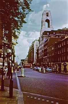 Abbey House clock tower, Baker Street 1957