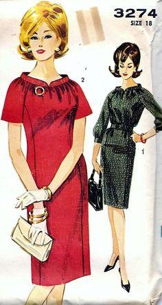 Vintage 60s Advance Dress Sewing Pattern by vintagepatternstore, $13.90