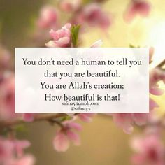 Mashallah! He thinks we are all beautiful and that is all that should matter!