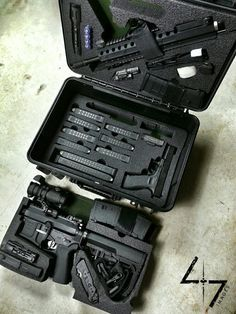 Two gun kit - defense rifle, sidearm, ammunition and accessories: - Tap the link to shop on our official online store! You can also join our affiliate and/or rewards programs for FREE! Weapon Storage, Gun Storage, Weapons Guns, Guns And Ammo, Zombie Weapons, Armas Ninja, Tac Gear, Gun Cases, Cool Guns