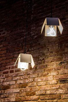 Simone Lamp by Nistal Design Studio with Plumen 001 designer energy saving  light bulb