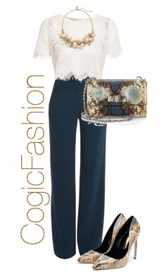 A fashion look from August 2015 featuring Glamorous tops, Cushnie Et Ochs pants and Rupert Sanderson pumps. Browse and shop related looks. Classy Outfits, Chic Outfits, Fashion Outfits, Womens Fashion, Looks Chic, Looks Style, My Style, Office Fashion, Work Fashion