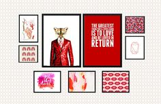 Red Theme Gallery Wall • How to Decorate With Color Series • Little Gold Pixel