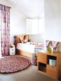 House & Garden February: Lilly and Lolly, Sydney, Australia, designing funky rooms for modern kids. Gorgeous girl's bedroom. #bunnyonComponibili