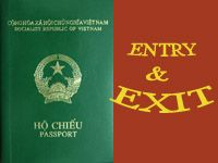 When you arrive in Vietnam you go to Visa on Arrival Desk . VOA window hand over your passport, one completed copy of the Entry/Exit Form  On Arrival window is ...