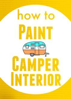 How to Paint Camper Interior | TheNoshery.com - @TheNoshery