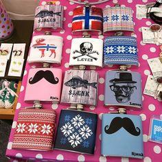 """@mariannerovik's photo: """"#martna #market #trondheim #norway #design #mustache #bart #skull #moose #elg #mønster #pattern #lommelerke #cool"""""""