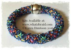 "20-Strand ""Round"" Bracelet - Kumihimo Gala Ribbon & Satin"