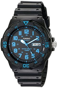 Casio Unisex MRW200H2BV NeoDisplay Black Watch with Resin Band >>> Visit the image link more details.