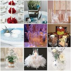 Winter themed wedding flower centerpieces Chicago | The Wedding Specialists