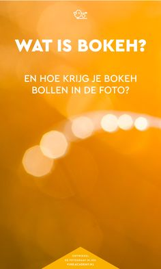 Fotografie tips scherptediepte: Speel met de scherptediepte en krijg bokeh bollen in je foto's! Hoe groter het diafragma, hoe ronder de bokeh bollen zijn.