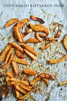 Oven baked Rutabaga Fries YUM!