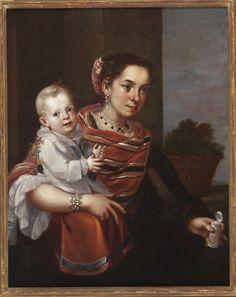 Casta Painting (From Spaniard and Morisca, Albino) (Pintura de castas [De español y morisca, albino]). Mexico, 18th century | LACMA Collections M.2009.62