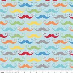 Nap Mat  Monogrammed Aqua Mustache Nap Mat by PreciousnProsper