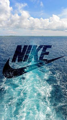 Nike Logo Boat Water Trail iPhone 5 Wallpaper