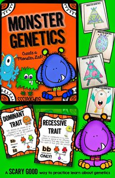 Monster Genetics: Traits, Heredity, and Fun...ALL IN ONE! 7th Grade Science, Middle School Science, Elementary Science, Science Classroom, Classroom Activities, Elementary Schools, Teaching Biology, Science Biology, Science Education
