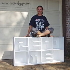 Easy DIY Message Bookshelf with Letter Guide