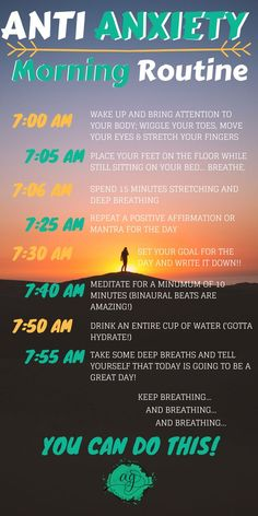 For a healthy and mindful start to your day, practice this morning routine fille. - For a healthy and mindful start to your day, practice this morning routine filled with natural anxi - Health Anxiety, Anxiety Tips, Anxiety Help, Stress And Anxiety, Mental Health, Overcoming Anxiety, Foods For Anxiety, Foods That Cause Anxiety, Anxiety And Depression