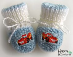 Knitted Baby BootiesKnitted Baby by HappyLittleShoes on Etsy