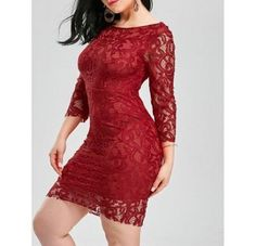 Buy Backless Lace Tight Short Homecoming Dress - Red M from Empire Costume at on Bargain Master Nigeria Trendy Dresses, Cheap Dresses, Sexy Dresses, Short Sleeve Dresses, Lace Dresses, Summer Dresses, Short Lace Dress, Lace Dress Black, Red Lace