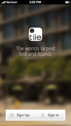TILE...a cool way to find what is lost!!!