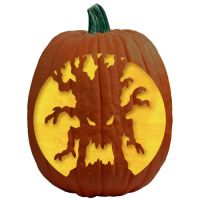"""One of 700+ FREE stencils for pumpkin carving and more! www.pumpkinlady.com """"Twisted"""" #FreePumpkinCarvingPattern"""