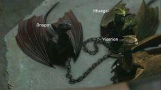 Resultado de imagem para viserion game of thrones dragão de gelo