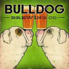Ryan Fowler 'Bulldog Brewing' Gallery-Wrapped Canvas ($230) ❤ liked on Polyvore featuring home, home decor, wall art, bulldog canvas wall art, cartoon illustration, canvas home decor, bulldog wall art and canvas wall art