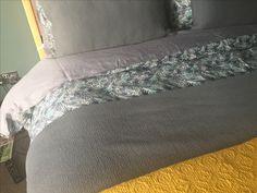 #greybedding #greyandmustard #bedding #bedroom