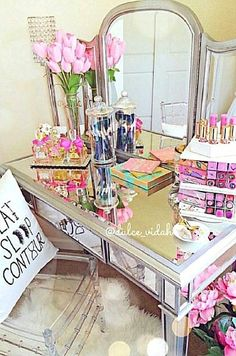 CLICK For More MAKEUP COLLECTION IDEAS For Your Beauty Room to organize your growing beauty & #makeupcollection with the best, top quality organizers for your #beautyroom and #makeup vanity for the Beauty #Blogger, the #MUA and those who love ALL Things #Beauty.