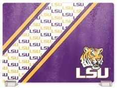 Louisiana State University Tempered Glass Cutting Board