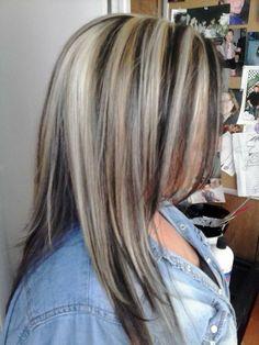 Blonde highlights, with dark brown  caramel lowlights