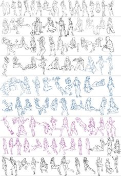 figure drawing refereces — anatoref: Gesture Studies, by Ben Li Body Reference Drawing, Human Figure Drawing, Figure Sketching, Drawing Reference Poses, Drawing Poses, Drawing Tips, Female Pose Reference, Hand Reference, Body Drawing