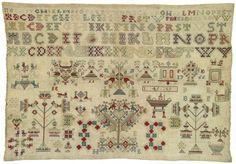 Merklap Maakster: Eelses, Feikje Vervaardigingsdatum: 1766 Afmeting: 32.0 x 47.0 cm Plaats vervaardiging: Ternaard