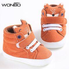 #BestPrice #Fashion winter baby shoes Cotton Cloth kids Girl Boys Fox High Help first walker Canvas Sneaker Anti-slip Soft Sole Toddler…