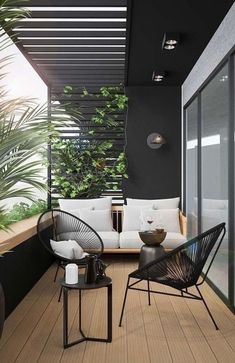 Small Balcony Design, Small Balcony Decor, Terrace Design, Balcony Decoration, Modern Balcony, Small Terrace, Modern Pergola, Patio Balcony Ideas, Condo Balcony