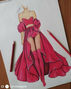 Fashion Drawing Tutorial, Fashion Figure Drawing, Fashion Drawing Dresses, Fashion Illustration Dresses, Fashion Illustration Tutorial, Drawing Fashion, Dress Design Drawing, Dress Design Sketches, Fashion Design Sketchbook