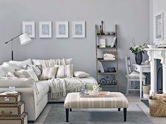frhling im wohnzimmer grn wei kombination mehr sehen family rooms - Wohnzimmer Grun Weis Grau
