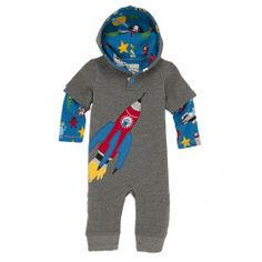 Space Ships Infant Thermal Coverall by Hatley 45$