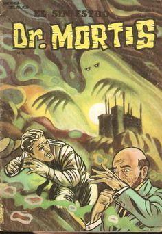 Revista Dr. Mortis. : Hola. Aqui subo una foto de la primera revista Dr. Mortis que saió a la circulación. El otro día pásé por la Plaza Almagro y encontré un CD con radio teatro del Dr. Mortis. En su tiempo daba miedo, ahora risa. De todas maneras revista y radioteatro marcaron una época en las historias de terror. Todavíame queda una revista Dr. Mortis por subir, pero eso lo haré mucho más adelante. Ya po, me despido, un Trump, Death, Comic Books, Typo, Movie Posters, Movies, Photograph, Fictional Characters, Vintage