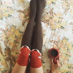 how to wear knee-highs for Den.