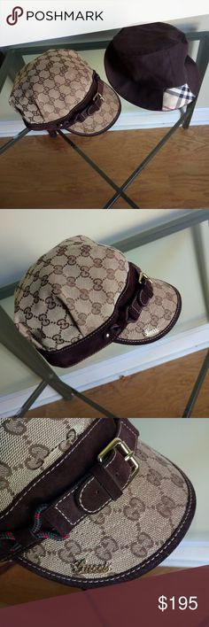 AUTHENTIC Burberry and Gucci hats Both fit small... Only Selling together... Both in pristine condition Gucci Accessories