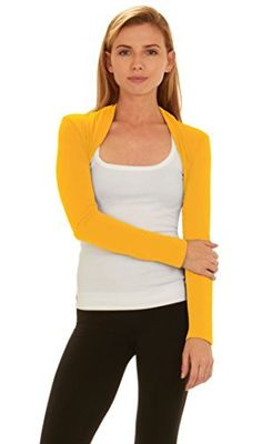 New Trending Outerwear: Red Hanger Women Bolero Long Sleeve Shrug Crop Top, Mustard-M. Red Hanger Women Bolero Long Sleeve Shrug Crop Top, Mustard-M  Special Offer: $17.99  155 Reviews Red Hanger brings you the long sleeves crop top shrug which is great as office wear, casual wear and loungewear. Our solid colored shrugs are comfortable and soft. Shrugs are great for...