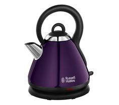 Buy RUSSELL HOBBS Heritage 19143 Traditional Kettle - Metallic Purple | Free Delivery | Currys