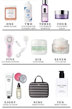 Beauty Products to help you get clean skin post workout