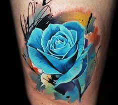 Blue Rose tattoo by Lehel Nyeste | No. 1027